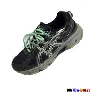 Asics 8 Gray Teal Gel Venture 8 Athletic Shoes